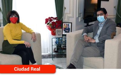 Caballero ofrece a la nueva secretaria general de UGT en la provincia el apoyo y la colaboración de la Diputación