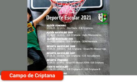 Baloncesto Criptana comienza este fin de semana la competición del deporte escolar