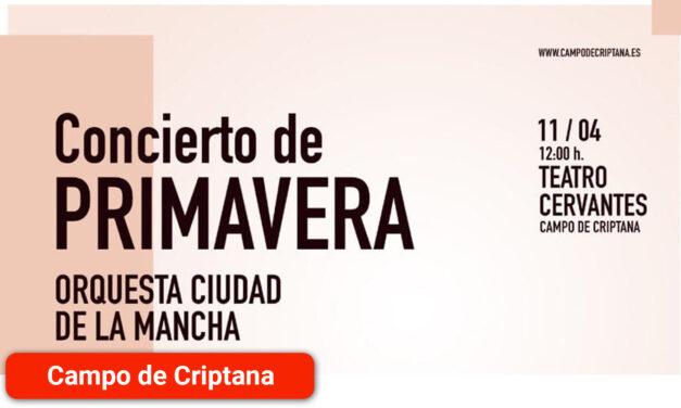 El Ayuntamiento organiza el Concierto de Primavera a cargo de la Orquesta Ciudad de La Mancha