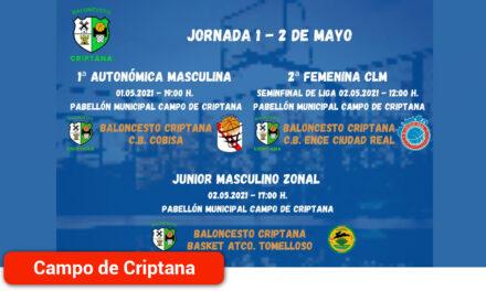 Fin de semana intenso para los equipos federados del Baloncesto Criptana