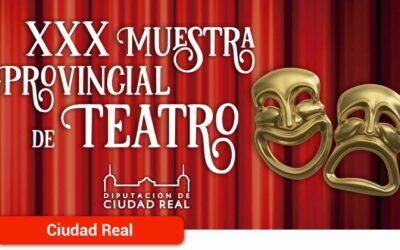 La Diputación selecciona 10 propuestas artísticas para la XXX edición de la Muestra de Teatro