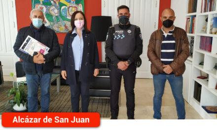 La Alcaldesa recibe al nuevo Presidente Regional del Sindicato Policía Local de Castilla-La Mancha