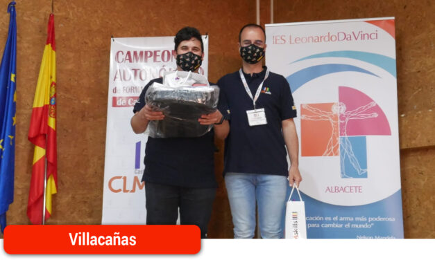 El joven villacañero Luis Pérez consigue la medalla de plata en el CLM-SKILLS de informática