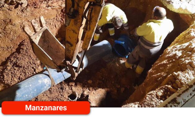 Una rotura complica la conexión a la red de agua y retrasa la recuperación del suministro