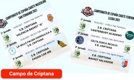 Los equipos Cadete Masculino y Femenino participarán en el Campeonato de España