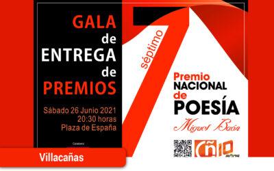 """Gala poética para entregar los premios del Premio de Poesía """"Miguel Baón"""""""
