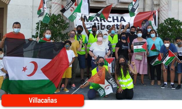 La Marcha por la libertad del pueblo saharaui hace parada en su camino hacia Madrid