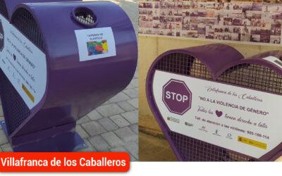Los dos corazones solidarios para recoger tapones ya están instalados