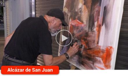 El arte en vivo volvió a animar las calles con el Certamen de Pintura Rápida Nocturna 'Ángel Lizcano Monedero'