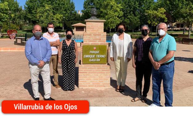 El PSOE celebra que una de las zonas verdes vuelva a tomar el nombre de Enrique Tierno Galván