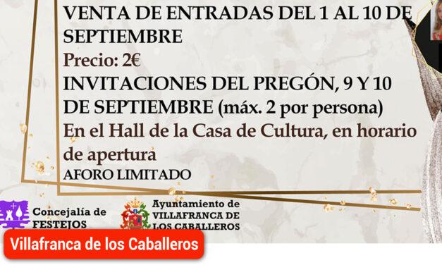 Del 1 al 10 de septiembre se podrán adquirir las entradas para las actuaciones musicales de la Feria y Fiestas