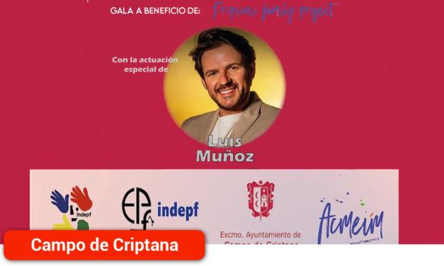 Luis Muñoz, un artista solidario en la Gala de INDEPF