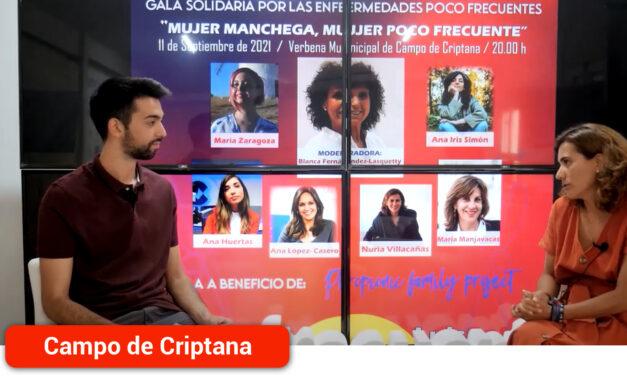 """Entrevista a la periodista Nuria Villacañas, quien participará en la Gala Solidaria """"Mujer Manchega, Mujer Poco Frecuente"""""""