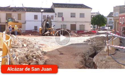 En marcha las obras en la Plaza de la Justa que finalizarán en un plazo de seis meses
