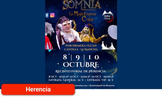 Por primera vez en la región llega a Herencia Somnia el mayor espectáculo de entretenimiento, música, danza y magia jamás visto en España