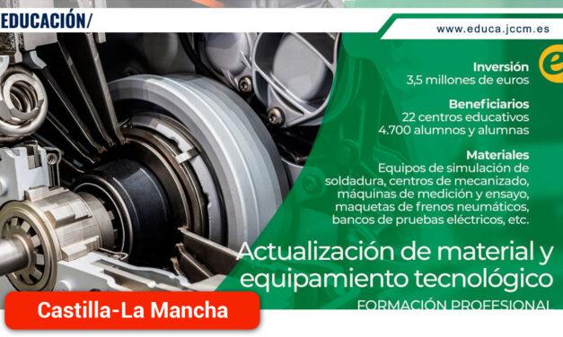 El Gobierno regional destina 3,5 millones a la actualización del material y el equipamiento tecnológico de 22 centros de Formación Profesional
