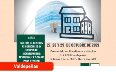 La gestión de Centros Residenciales en el escenario de la Covid-19, a debate en un Curso de la Uned de Ciudad Real