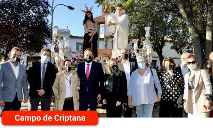 Núñez asiste al Viacrucis Magno de las Hermandades de Semana Santa de Campo de Criptana