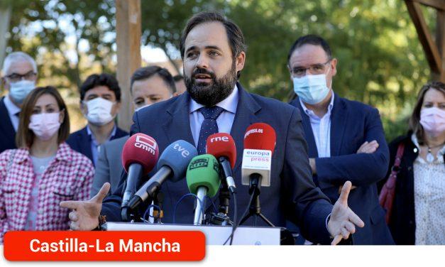 Núñez avanza que el PP enmendará los Presupuestos regionales si el PSOE rechaza la propuesta para la construcción de la autovía Albacete-Cuenca
