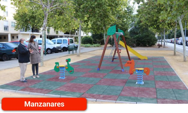 Rehabilitado el parque infantil del Nuevo Manzanares
