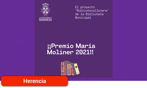 La Biblioteca Municipal recibe de nuevo uno de los premios María Moliner 2021 valorado en 2.014, 69 € para la adquisición de libros