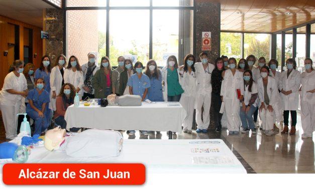 El Hospital Mancha Centro conmemora el Día Mundial de la Parada Cardiorrespiratoria con talleres de formación para sus profesionales