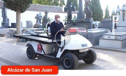 El cementerio suma un vehículo eléctrico portaféretros para contribuir al mejor servicio de la población